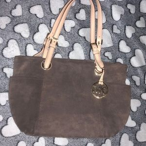 Michael Kors suede shoulder bag